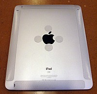 Apple iPad with Clear Laptop Strips