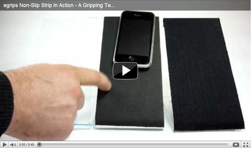 egrips Non-Slip Strip In Action - A Gripping Testimony - Works on Any Surface!